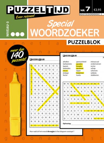 Puzzelblok woordzoeker special 3 punt nr.7 puzzeltijd
