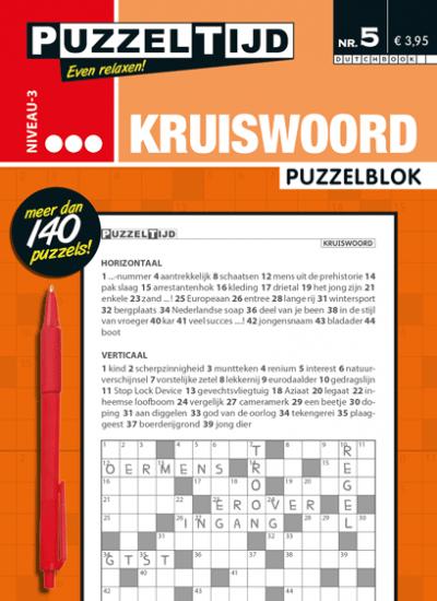 Puzzelblok kruiswoord 3 punten nr. 005