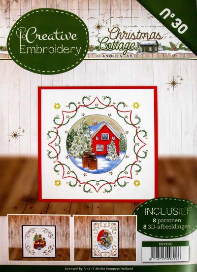 Christmas Cottage 030 borduurboek van Jeanine's Art