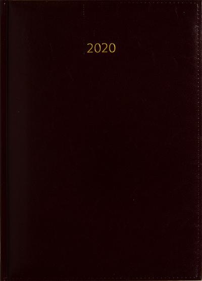 Weektimer agenda A5 2020 bordeaux nr 205