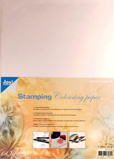 Stempelin kleurpapier