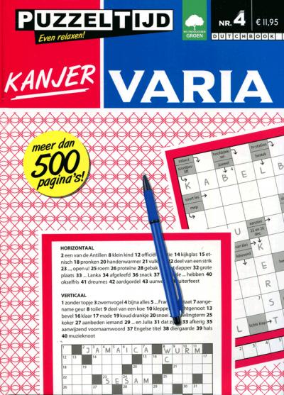 Puzzelboek kanjer varia nr. 004 Puzzeltijd