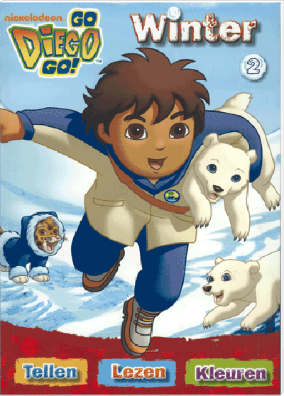 Go Diego Go Winter 2 Tellen Lezen Kleuren