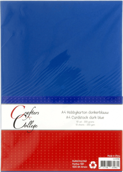 Hobbykarton A4 30 donkerblauw