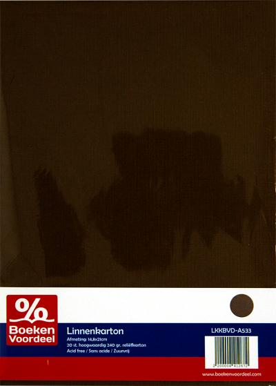 LINNENKARTON A5 - 33 CHOCOLADE BRUIN