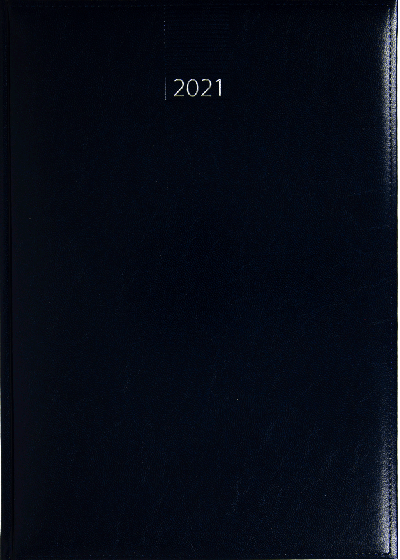 Weekagenda A4 2021 donkerblauw