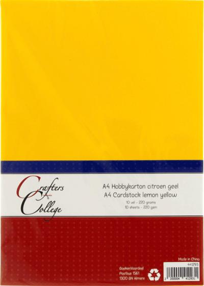 Hobbykarton A4 13 citroengeel