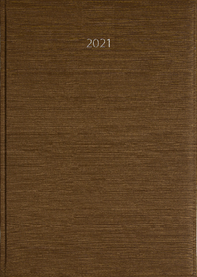 Weekagenda A4 2021 taupe