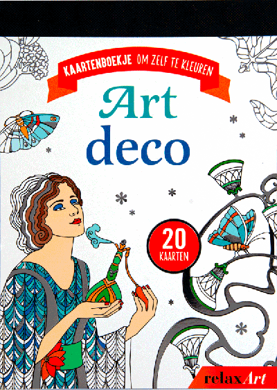 Art deco kaartenboek om zelf te kleuren