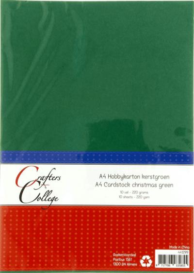 Hobbykarton A4 33 kerstgroen