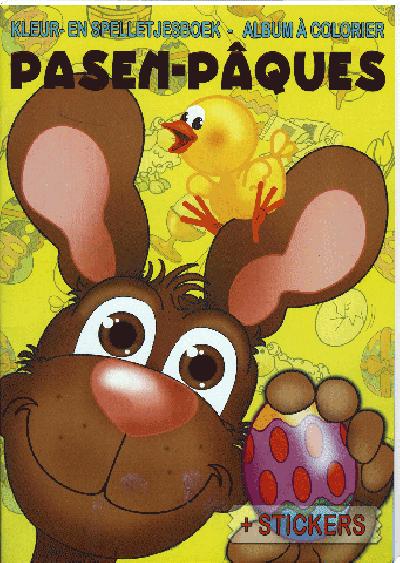 Kleur en Spelletjesboek Pasen (met stickers)