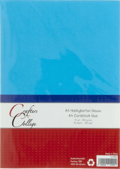 Hobbykarton A4 10 blauw