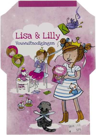 Lisa & Lilly Vouwuitnodigingen
