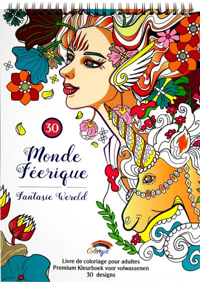 Kleurboek fantasie wereld
