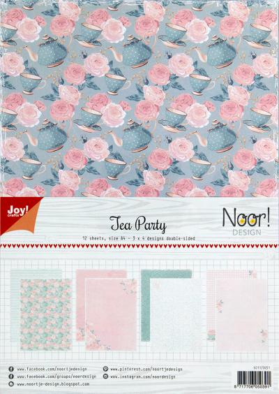 Papierset Noor design tea party van Joy Crafts