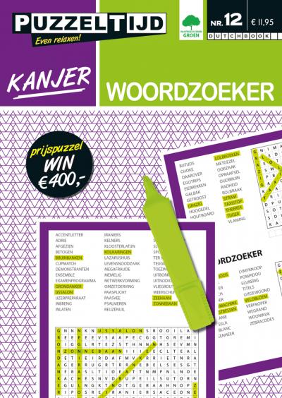 Puzzelboek Kanjer woordzoeker nr. 12