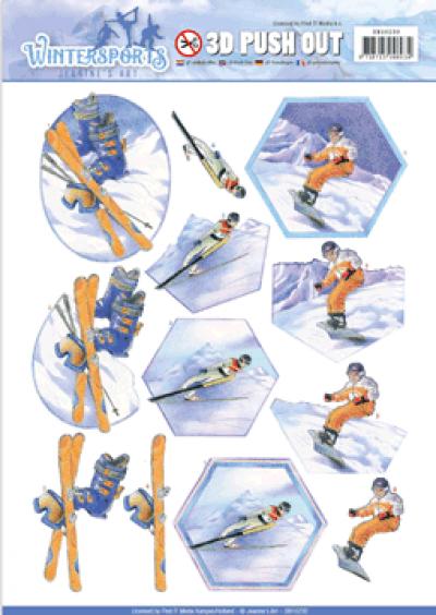 3D push out snowfun wintersports