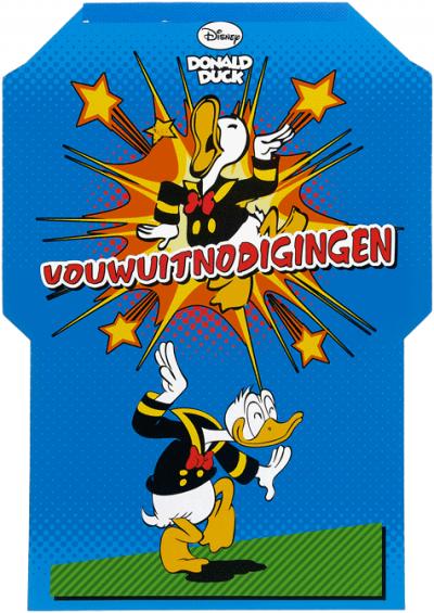 Donald Duck Vouwuitnodigingen