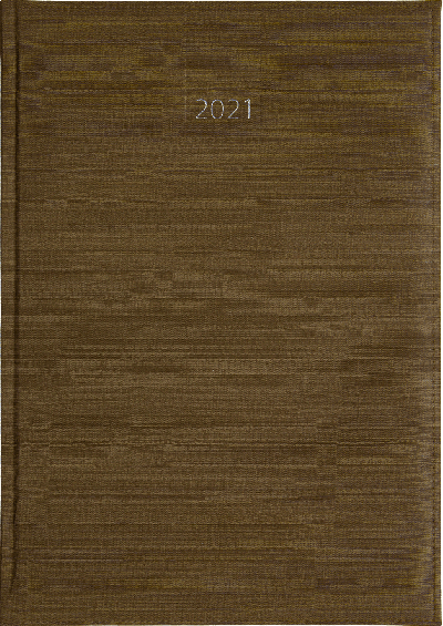Weekagenda 2021 taupe nr 203 met structuur (986) 17x24cm