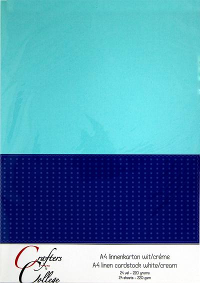 Linnenkarton 24vel A4 wit/creme van Joy Crafts