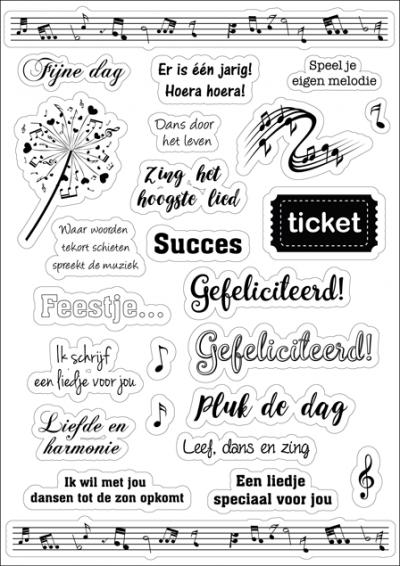 Stickers muziek design Joy Crafts