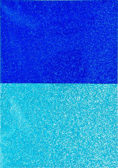 Glitterpapier A4 blauw 2 tinten 4 vel