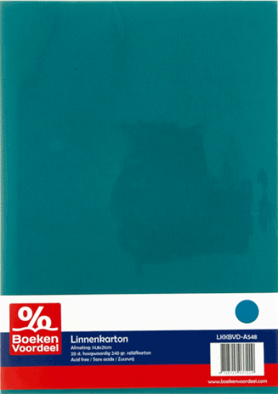 Linnenkarton A5 48 emerald
