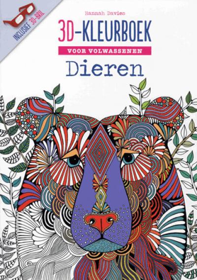 3D kleurboek voor volwassenen - dieren