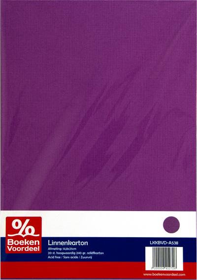 Linnenkarton A5 - 38 aubergine