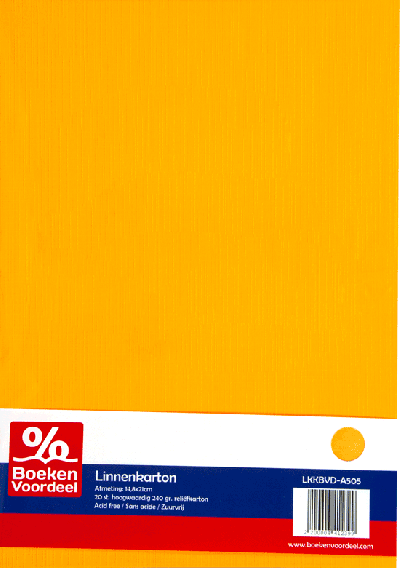 Linnenkarton A5 - Oker (05)