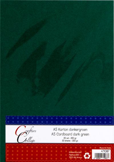 karton A5 donkergroen 20 vel 220gr
