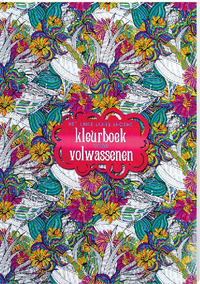 Nieuwe Kleurplaten Voor Volwassenen.Boekenvoordeel Het Enige Echt Enorme Kleurboek Voor