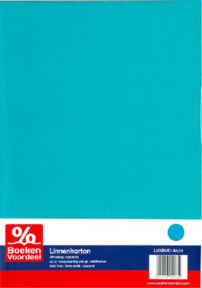 Linnenkarton A5 - Hemelsblauw (29)