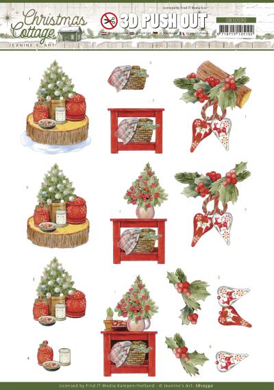 Christmas Cottage 3D push out christmas decorations