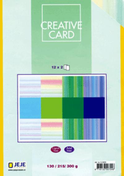 Creative Card papierblok 12x2 pasteltinten 14,7x20,3cm