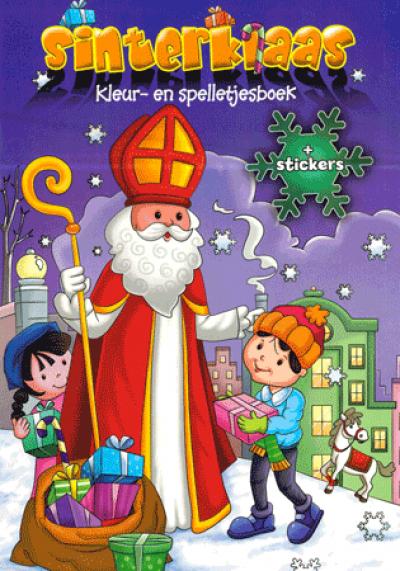 Sinterklaas kleur- en spelletjesboek (+ stickers)
