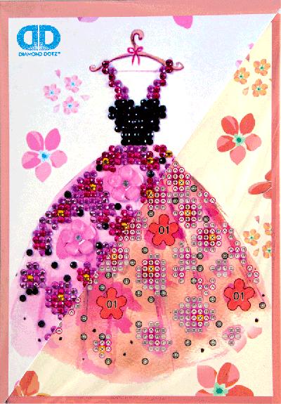 Diamond dotz greeting card party time