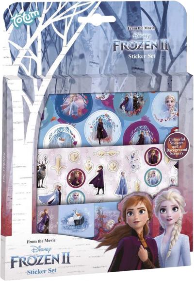 Frozen Stickerset met 3 vellen