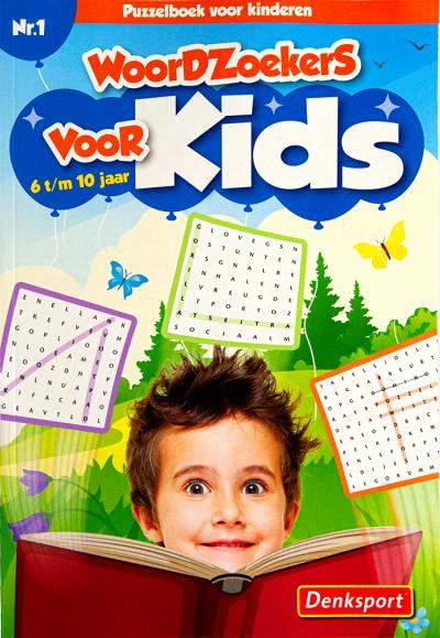 Puzzelsport Kids Woordzoekers 6-10 jaar