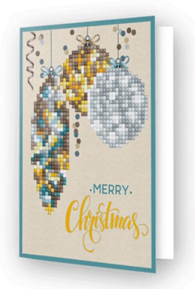 Diamond Dotz greeting card christmas bauble antique
