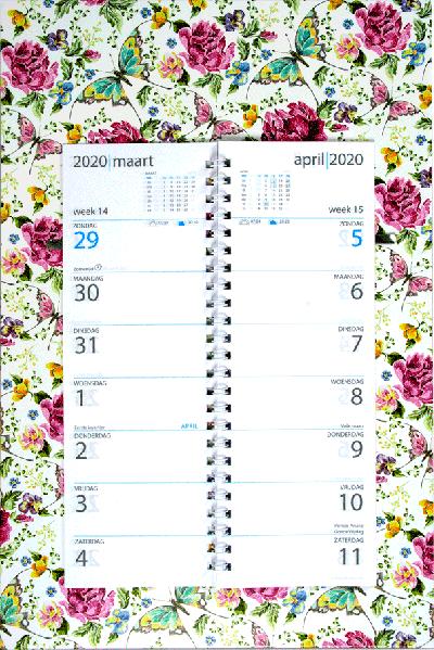 Omleg weekkalender 2020 Bloemen (getekend)