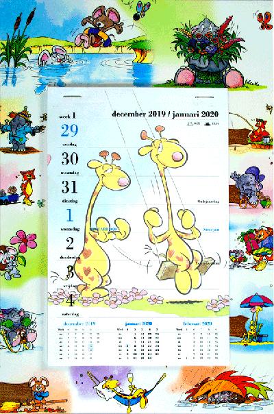 Weekblok kalender 2020 Beestenboel