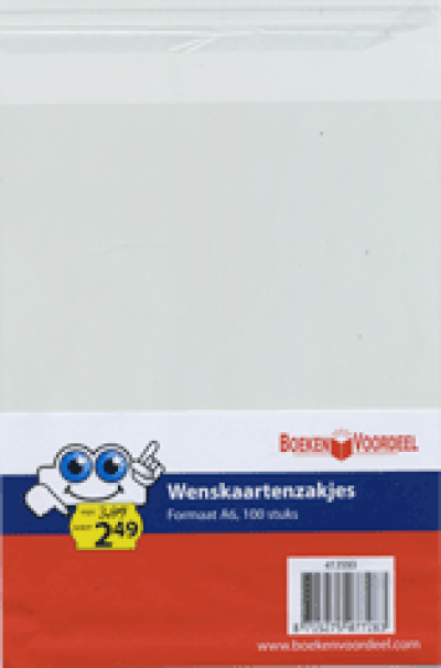 Wenskaartzakjes rechthoek
