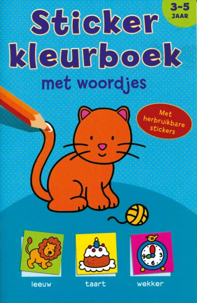 Sticker Kleurboek met woordjes