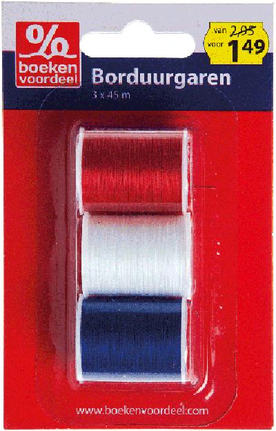 Borduurgaren Maritiem Rood-Wit-Blauw