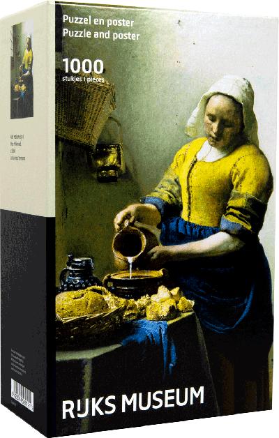 Legpuzzel Vermeer Keukenmeid 1000 stukjes