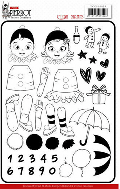 Yvonne Creations Petit Pierrot Clear stamps