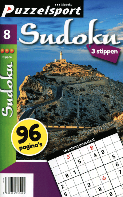 Puzzelsport 96 P. Sudoku 3 stippen nr. 008