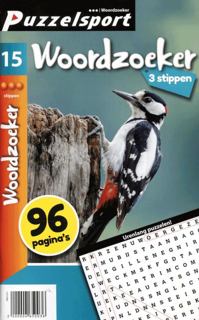 Puzzelsport 96 p. woordzoeker 3 stippen nr. 015
