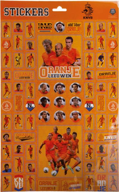 Stickervel A3 Nederlands Elftal